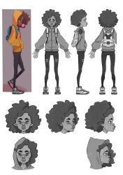 character desing back to school- she by GeneticMistake