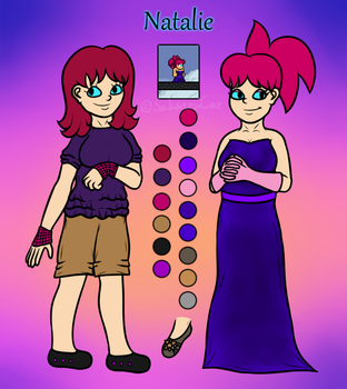 Natalie dress - Character sheet by SakatzuCat