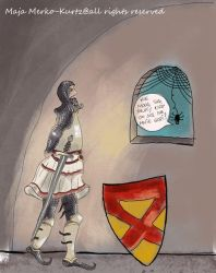 Robert the Bruce meets spider by Silver-M-Studio