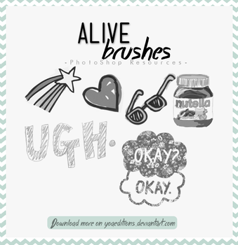 Alive Brushes by yoaeditions