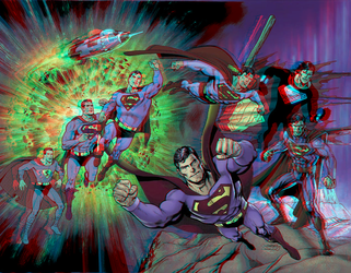 Superman 80th Anniversary by Dan Jurgens in 3D by xmancyclops