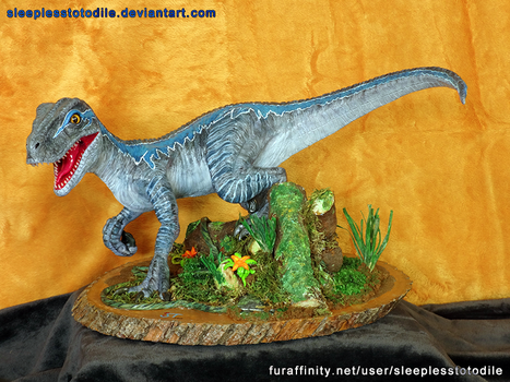 Blue the Raptor Sculpt - Jurassic World by SleeplessTotodile