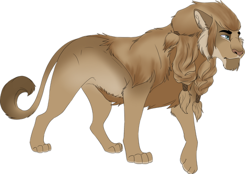 Lion commission for Chibi by ICUDO