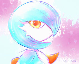 Shiny Gardevoir ~ Commission by opiatepie
