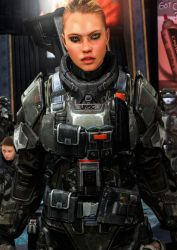 Female ODST Close Up by LordHayabusa357