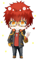 Chibi 707 [Mystic Messenger] Color by Shiemi-Hime