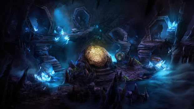 Otherworld - crystal cave by firedudewraith