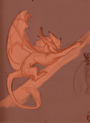 Draconic!YGO AU: Big Stretch Sketch by CoffeeAddictedDragon