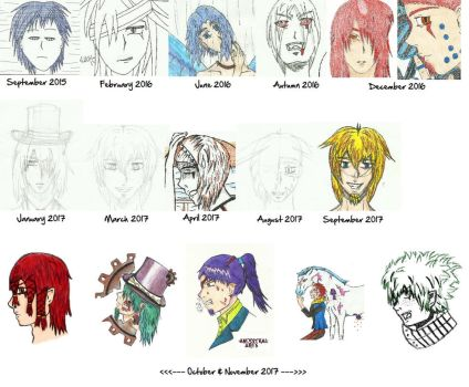 My Development in Drawing | 2 Years + 1 Month by AncestralArts