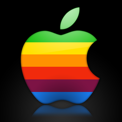 Apple logo PSD by x986123