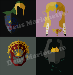 Zelda Shirt Designs by Deus-Marionette