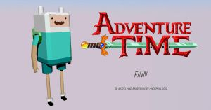 Adventure Time - Finn (3D Model/Render) by andepoul