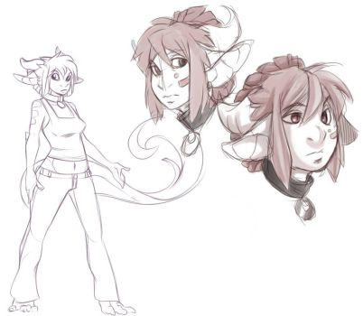 Rough Concept : Shandra by S-Dragoness