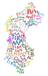 Albania Kosova Typography Map by ChR1sAlbo