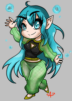 Chibi Request - Nixie by Aggrotard