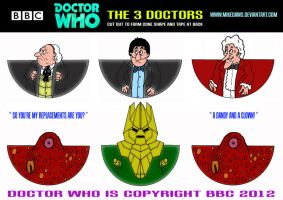 Doctor Who - The 3 Doctors by mikedaws