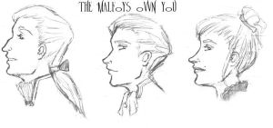 The nuclear family Malfoy by aleyed