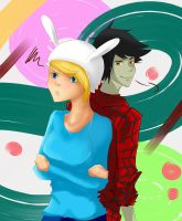 Marshall Lee and Fionna by Singingcatzz