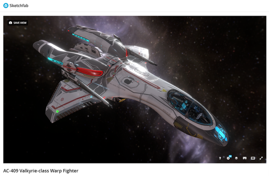 New Mk III Valkyrie 3D Model! by Auctor-Lucan