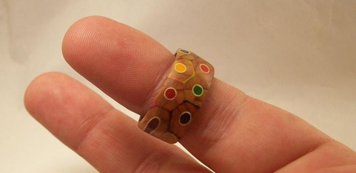 Colored Pencil Ring by kludge77