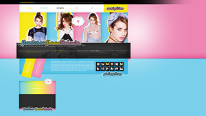Layout ft. Emma Roberts by PixxLussy