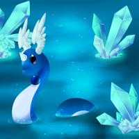 [PKMN] Among crystals and water by Saccharinerose