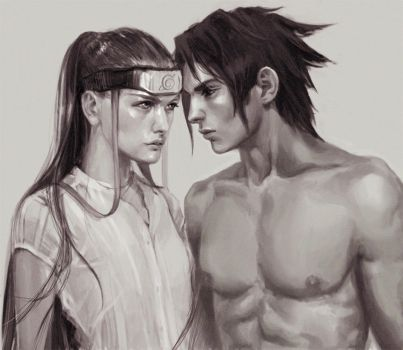 Neji and Sasuke by jubliantlaine