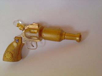 Ladies' Brass and Gold Hand Gun by TheJugglingOctopus