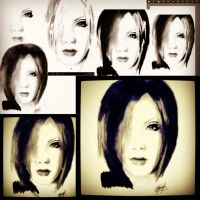 Process of drawing Uruha by MuArtGL