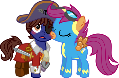 Kissing her Captain by MLP-Hot-Rod