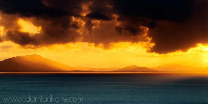Sunset over The Minch by DamianKane