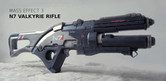 Mass Effect 3 Valkyrie Rifle Prop by teyoliia