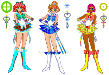 GROUP - EARTH Senshi by smcandy