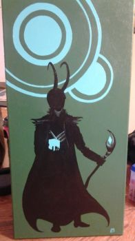 Loki Silhouette by angermuffin