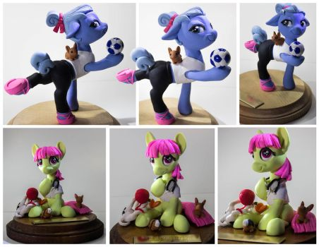 :Commission: Amanda and Emily by dustysculptures
