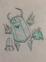 Rayman chronicles redesigned enemy: Ice golem  by nathandlneumann