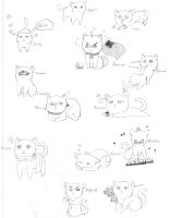 Hetalia Kitties by nightwindwolf95