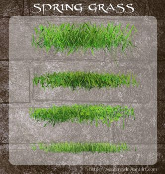3D Spring Grass by zememz