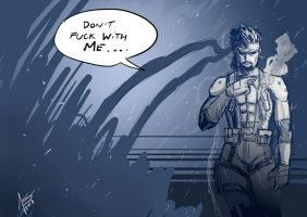 Solid Snake sketch by hikashy