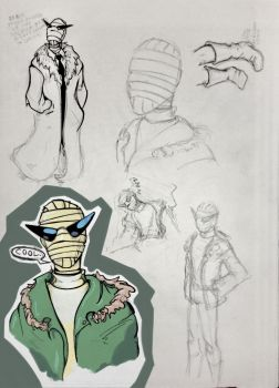 Negative Man sketches by EnzymeDevice