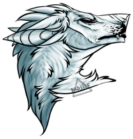Free Wolf Headshot  Lineart by NVSTY