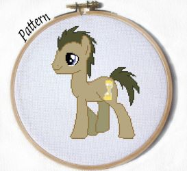 Dr Whooves Time tuner Cross stitch pattern by JuliefooDesigns