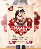 Valentines Party Flyer by naeem1200