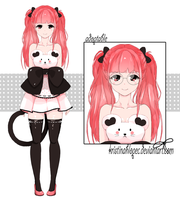 [CLOSED] Set price - Mouse Girl Adoptable by KristinaHlopec