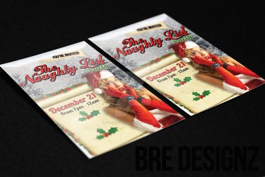 Christmas Party Flyer by AmbitiousDesignz