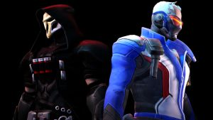 Reaper and Soldier 76 by karinscr
