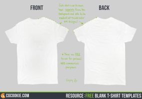 Resource: Blank T-Shirt Templates by CGCookie