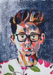 Self Portrait in Collage by Bmouat