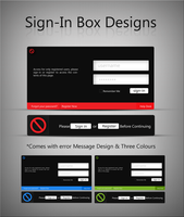 Login boxes and error message by UJz