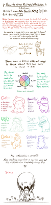 How to draw attributes (cute, scary, funny, etc) by scribblin